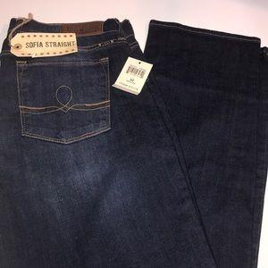 Lucky Brand Sofia Straight Jeans Size 14/32 Reg